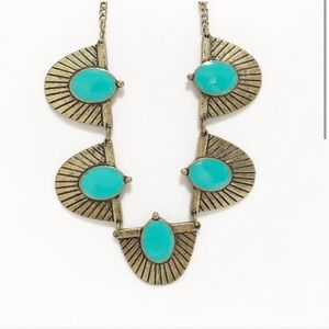 NEW! Stephan & co. Turquoise and gold chain link